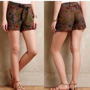 Anthropologie Sanctuary Floral Linen Shorts